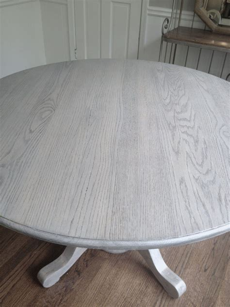 Tisch Holz Grau by Refinishing Dining Table Gray And Found Diy Kitchen