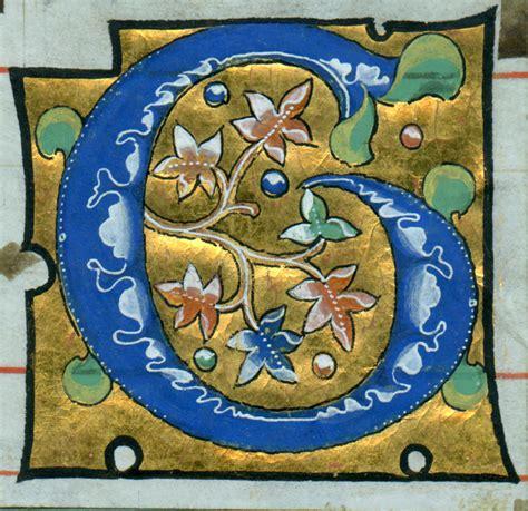 illuminated letter c gilding and painting a medi 230 val letter lovett mbe