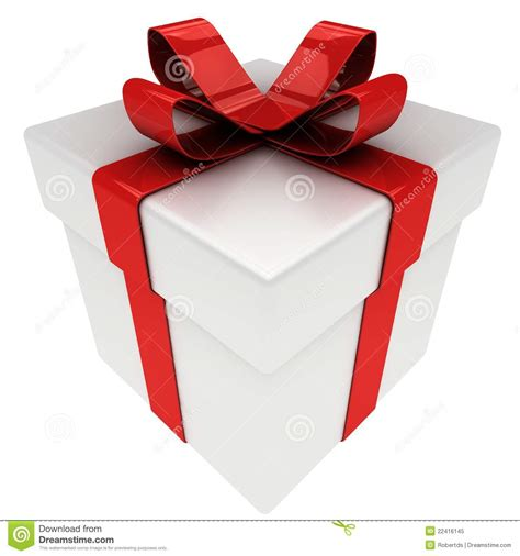 present with bow isolated royalty free stock photo image
