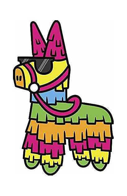 Pinata Cartoon Mexican Clipart Sunglasses Kitchen Wearing
