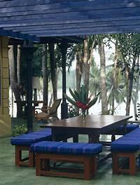 great tropical patio design ideas Blue Modern Tropical Outdoor Dining - Outdoor Patio Design Ideas - Lonny