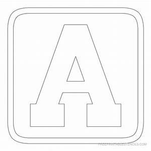 free printable alphabet stencils printable block letter With 3 letter stencils