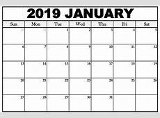 January 2019 Calendar Word 2018 Printable Calendar Store