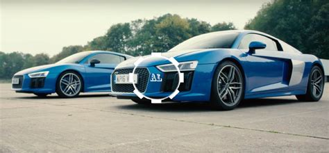 audi r8 v10 v10 plus drag race how much difference does 69bhp make audi