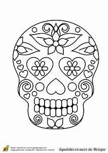 Tete De Mort Mexicaine Dessin : coloriage squelette sucre belles fleurs sur ~ Melissatoandfro.com Idées de Décoration