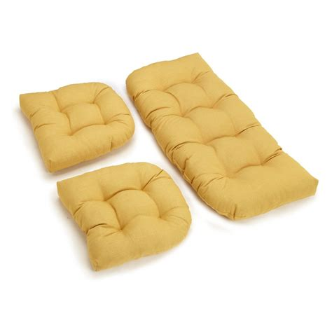 Wicker Settee Cushion Sets by Blazing Needles Outdoor Wicker Settee Cushions Set Of 3
