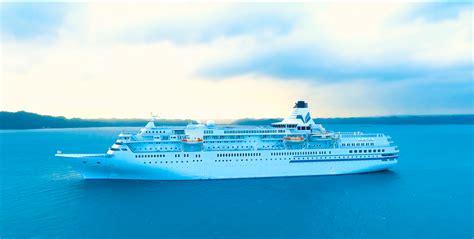video japanese cruise ship mv pacific venus arrival