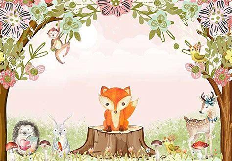 Funnytree 7X5ft Polyester Safari Woodland Birthday Party