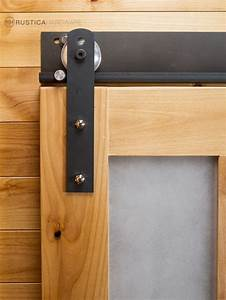 Barn door track system picture brunotaddei design the for Barn style door track system