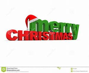 Merry Christmas Text stock illustration. Image of merry ...