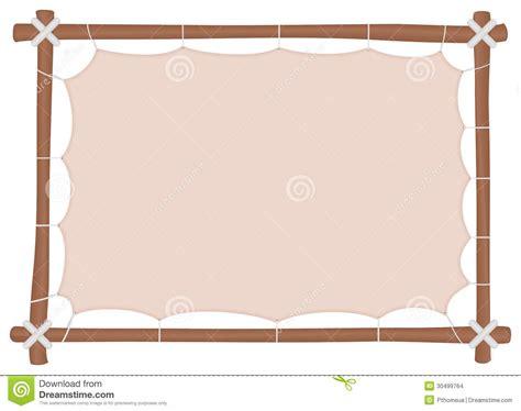 cadre en bois avec une toile 233 tir 233 e et un endroit pour