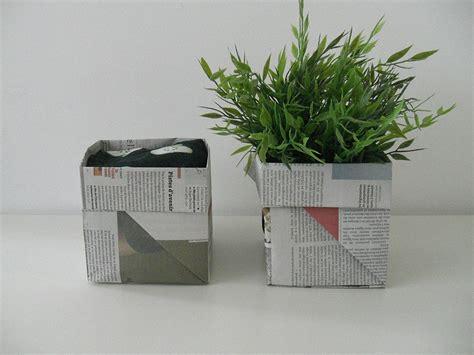 gabulle in diy origami panier en papier journal