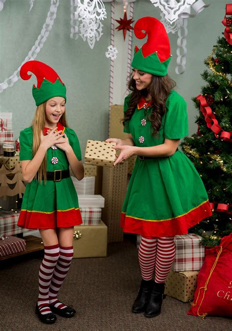 womens holiday elf  size costume