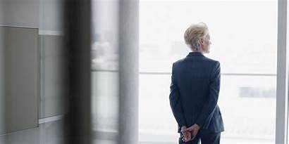 Window Office Business Businesswoman Reflective Thinking Career