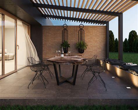cosy  modern brick terrace ceramika paradyz