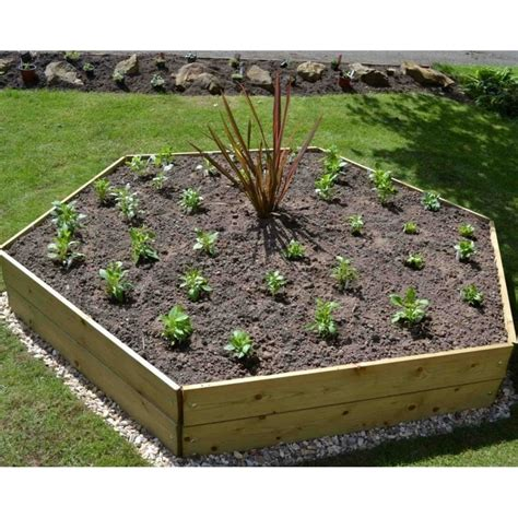 greena hexagonal raised bed garden street