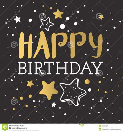Beautiful Happy Birthday Invitation Cards Vector Stock