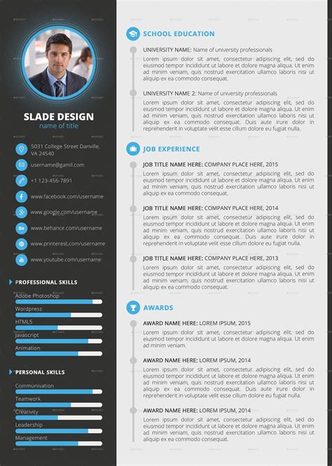 Curriculum Vitae Resume Template by Template Professional Cv Cv Templates Sle Template