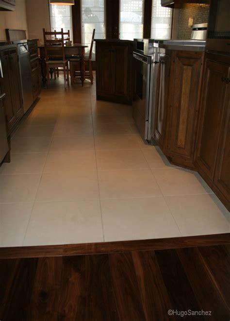 kitchen dining tile transition hardwood floor seamless floors menu main