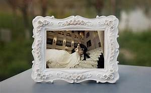 vintage family baby photo frame white pink resin With wedding favor picture frames 4x6