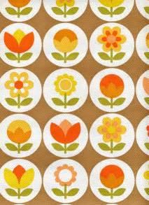 Papier Peint Retro 70 by Retro Plants Vintage Wallpaper