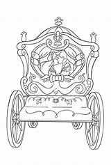 Coloring Cinderella Pages Carriage Popular sketch template