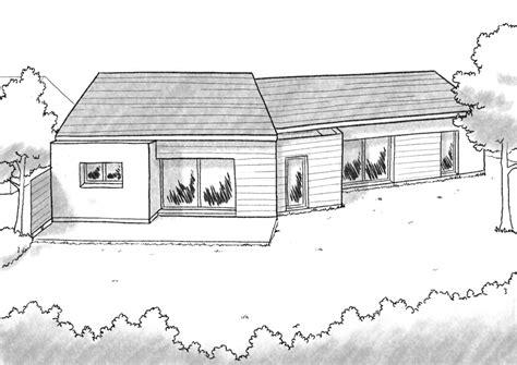 plan de chambre 3d plan maison en v avec 4 chambres ooreka