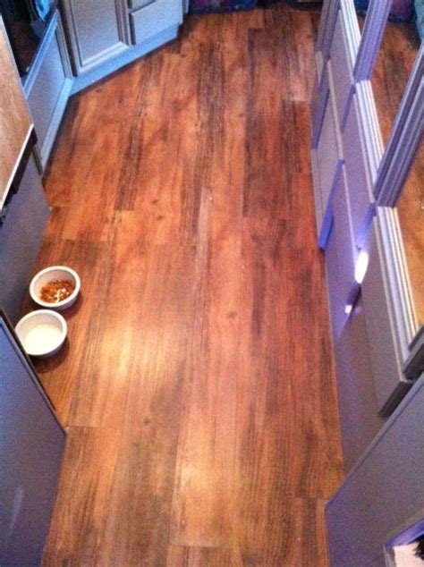 vinyl plank flooring for rv vinyl tile in rv looks like wood plank in case we ever get a pop up cer that needs