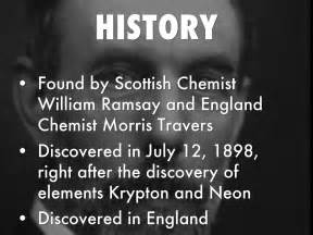 xenon scandium history discovered physical properties found morris travers ramsay william