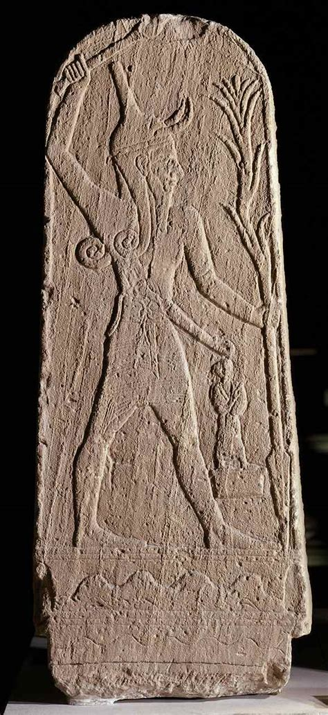 stele  baal  storm god bible history