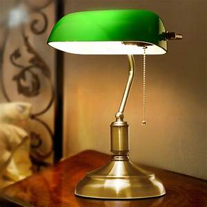 america antique green bank lamp living room retro table With k living table lamp