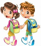 Résultat d'images pour élèves  joyeux allat à l'école dessi