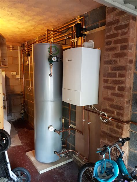 central heating boiler unvented cylinder  gas heating