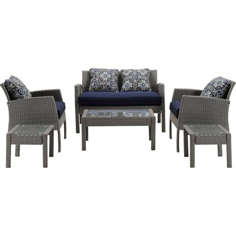 hanover chelsea 6 space saving patio seating