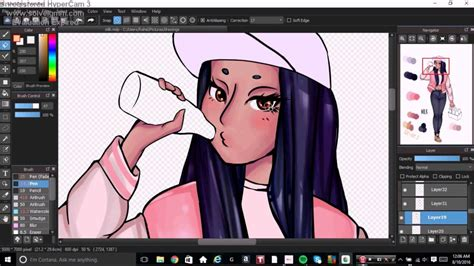 Coloring With Medibang by Medi Panit Speed Paint Milk