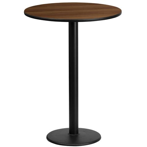 round bar height table flash furniture 24 39 39 round walnut laminate table top with