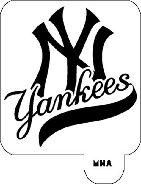 new york yankees logo stencil car interior design