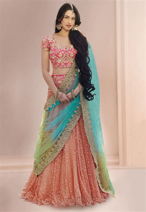 affordable bridal sets embroidered lehenga in lqm76