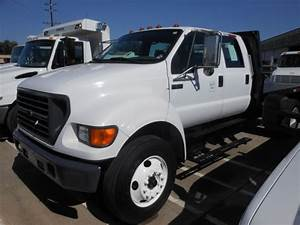 2003 Ford F650 Crew Cab S  A Flatbed Dump