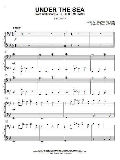 under the sea sheet music direct