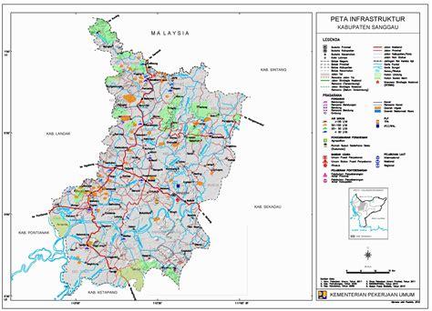 peta kota peta kabupaten sanggau