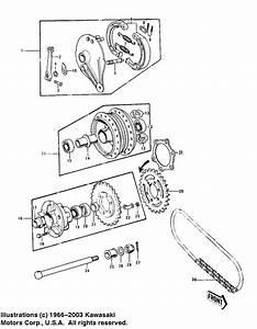 Rear Hub  Brake  Chain For 1975 Kawasaki Z1