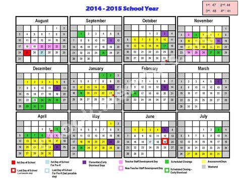 color coded calendar 2014 2015 approved color coded calendar calendar