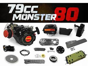 79cc Monster 80 Bike Engine Kit