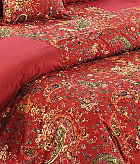 swayam red paisley print comforter set buy swayam red