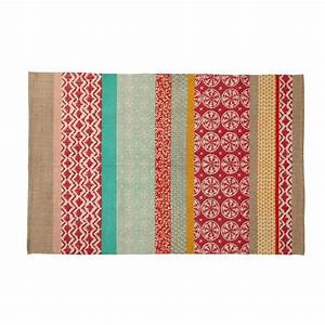 cotton rugs rugs and euro on pinterest With maisons du monde tapis