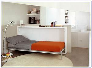 Twin, Size, Bed, And, Desk, Combo