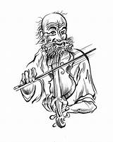 Fiddle Gleeful Player Drawing Mary Janet Robinson Artblog Getdrawings Illustration sketch template
