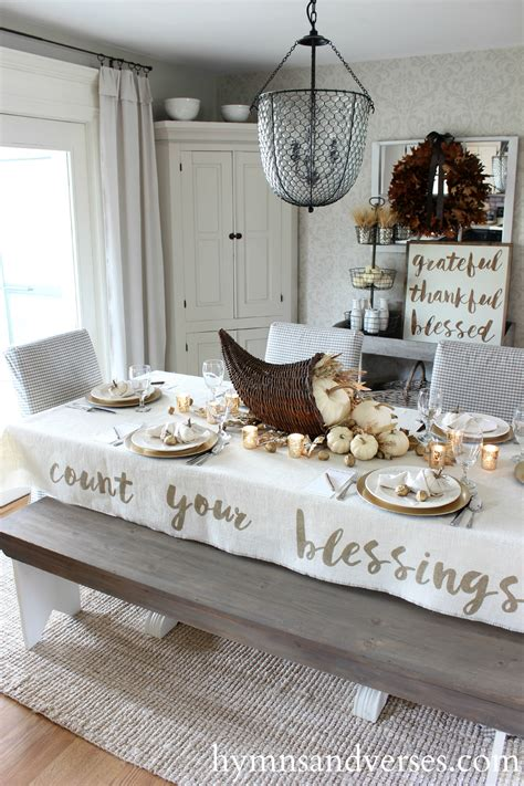 count  blessings thanksgiving tablecloth hymns