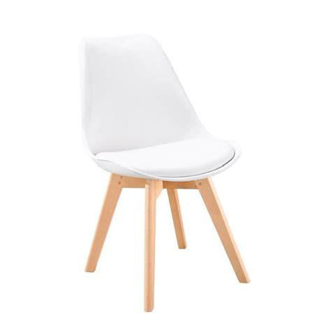 chaise coque blanche bjorn chaise scandinave de salle à manger blanche achat